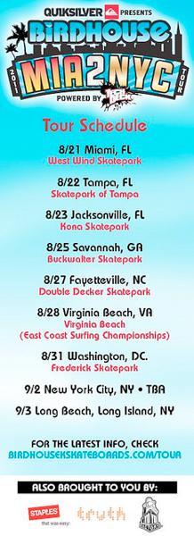 YoYoFactory East Coast Birdhouse Skating Tour!
