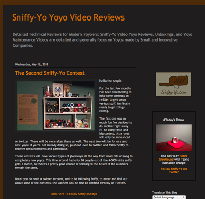 Check out the Sniffy-Yo Contests!