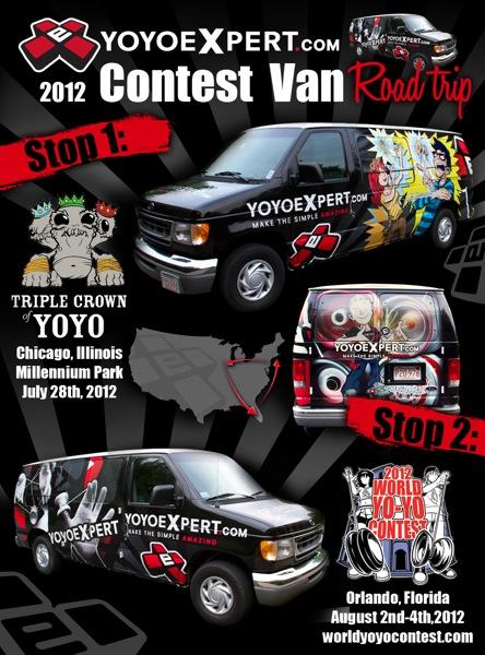 YoYoExpert CONTEST VAN – Enroute to @TripleCrownYoYo Chicago!