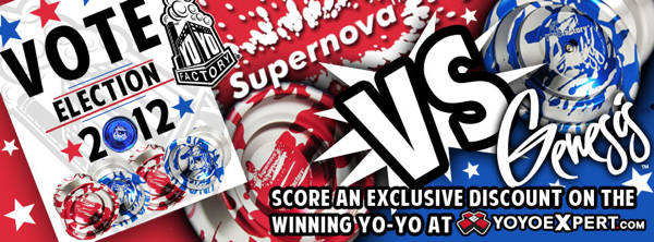 Genesis or SuperNova – Vote in the @YoYoFactory ELECTIONS Tomorrow!