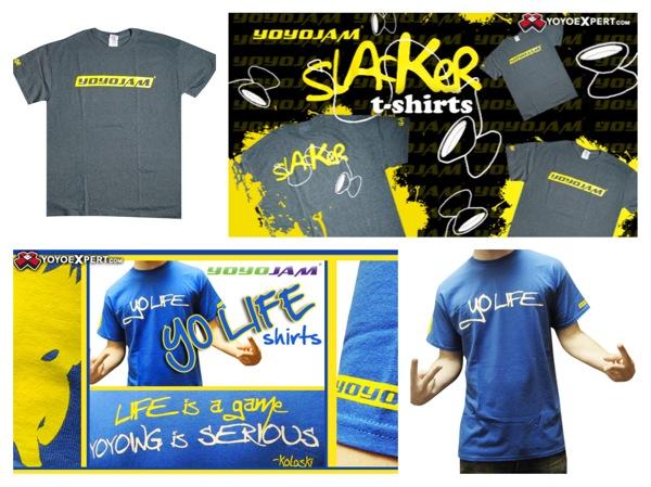 New YYJ T-Shirts || Yo-Life and SLACKER || @YoYoJam