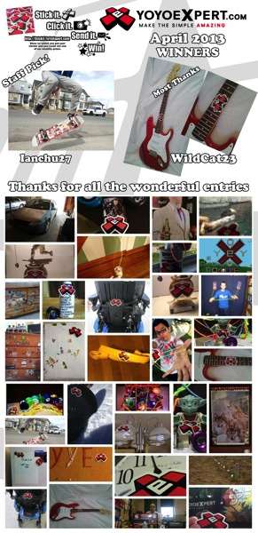 "YoYoExpert ""STICK IT""   Sticker Contest Winners   April 2013"