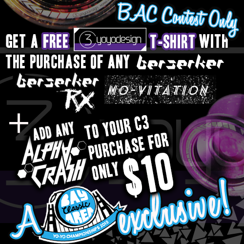 Free C3 Shirt at 2013 BAC YoYo