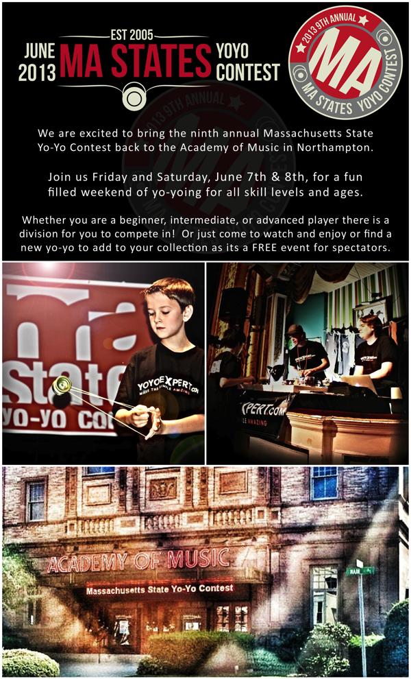 2013 MA State Yo-Yo Contest | June 7th & 8th