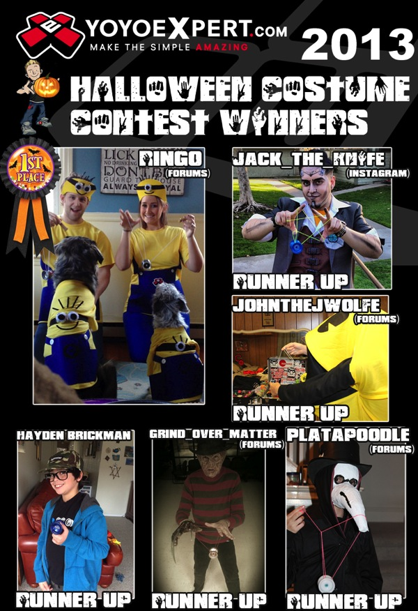 2013 Halloween Costume Contest Winners YoYoExpert