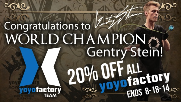 2014 World Yo-Yo Contest Gentry Stein Champion Winner