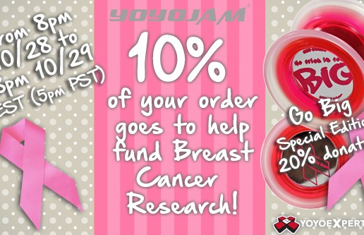 Breast Cancer Awareness – For 24 Hours 10% of Order Donated!