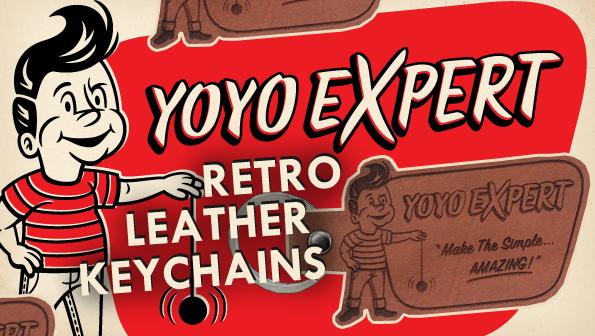 yoyoexpert retro leather keychain