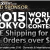 Free Shipping Worldwide During WYYC15!