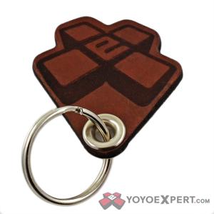 yoyoexpert leather keychain