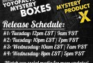 2015 Mystery Box – Release Times!