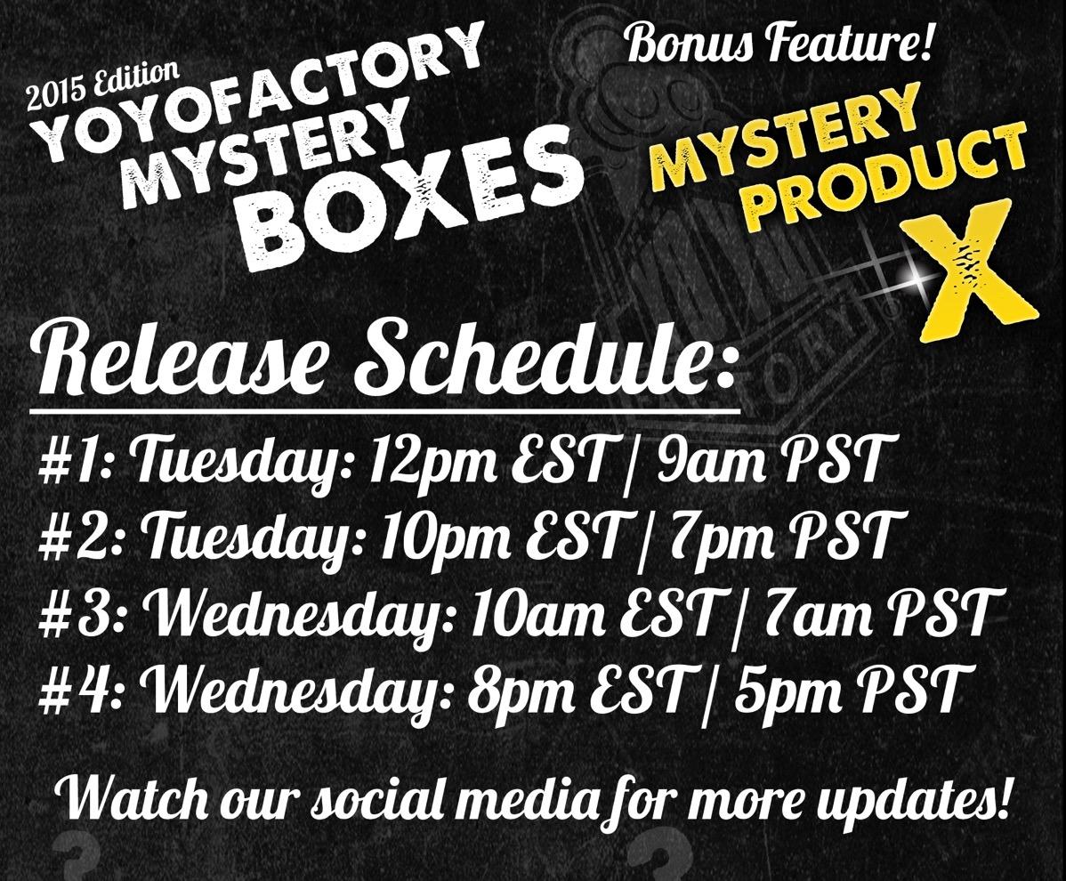YoYoFactory Release Schedule
