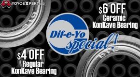 Dif-e-Yo Special! Konkave Bearing Sale!