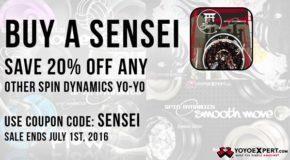 20% OFF Any Spin Dynamics Yo-Yo!