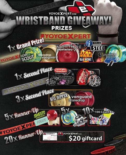 yoyoexpert wristband giveaway