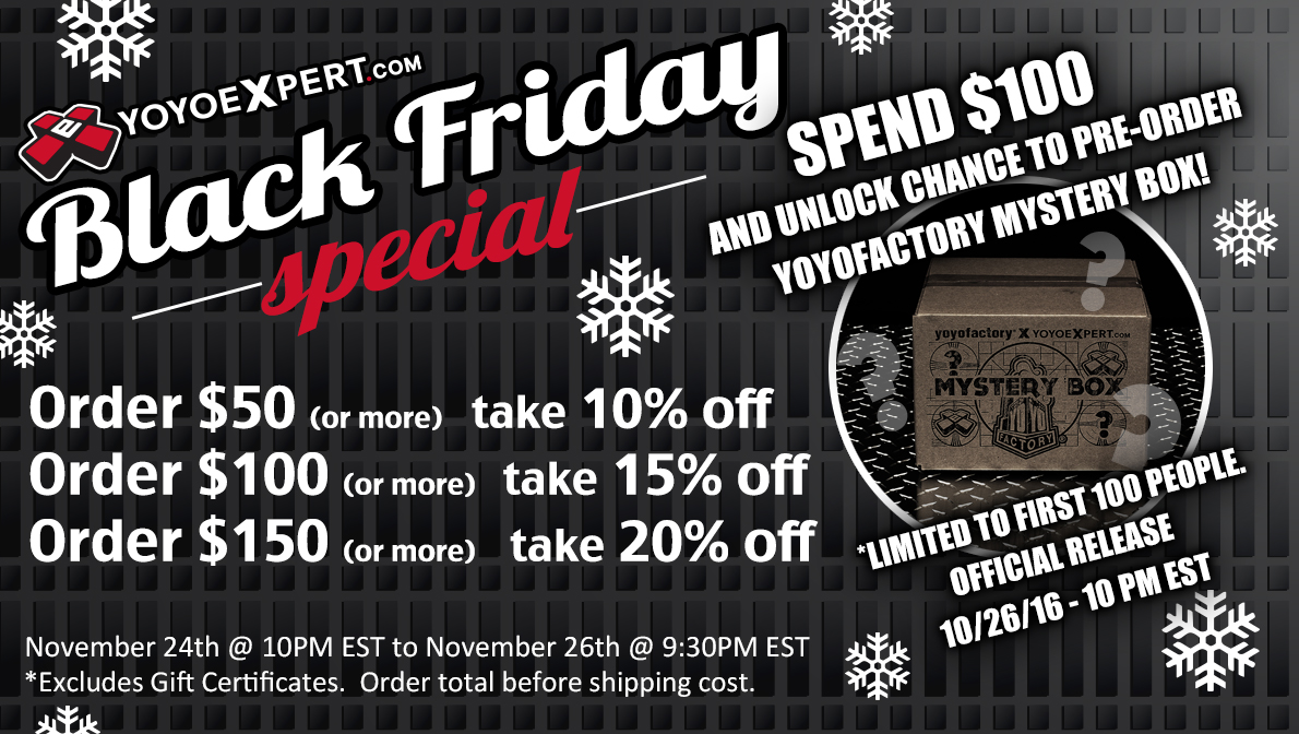 2016 Black Friday Sale YoYoExpert
