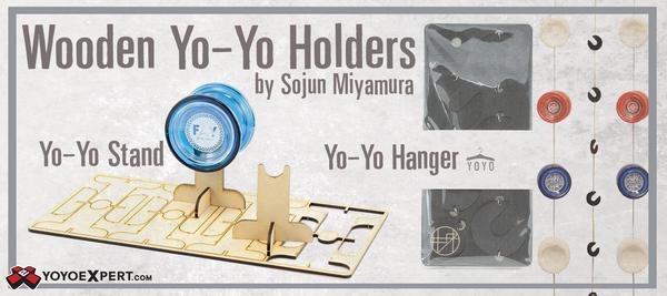 wooden yo-yo display by Sojun Miyamura