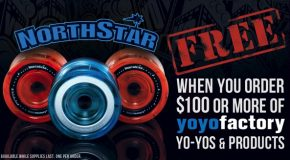 Free YoYoFactory Northstar with $100 YYF Purchase!