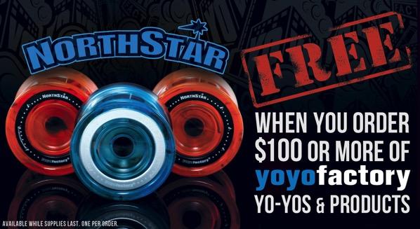 yoyofactory northstar promo